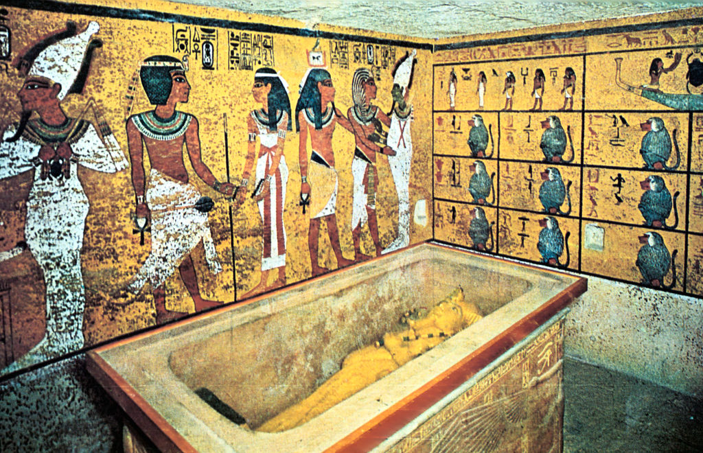 Inside King Tut's tomb