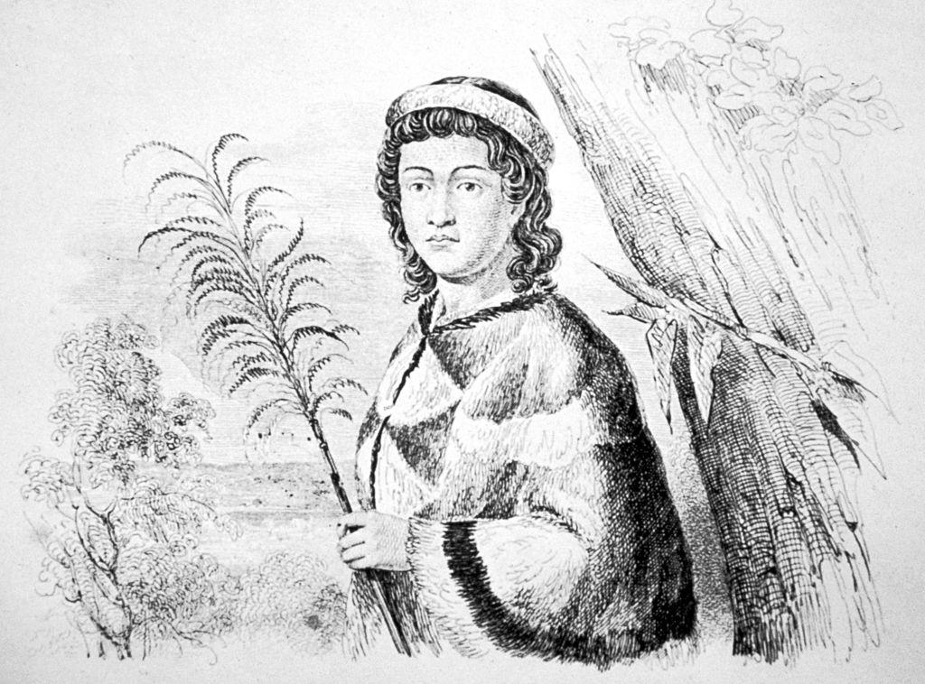 Nahienaena holding a plant