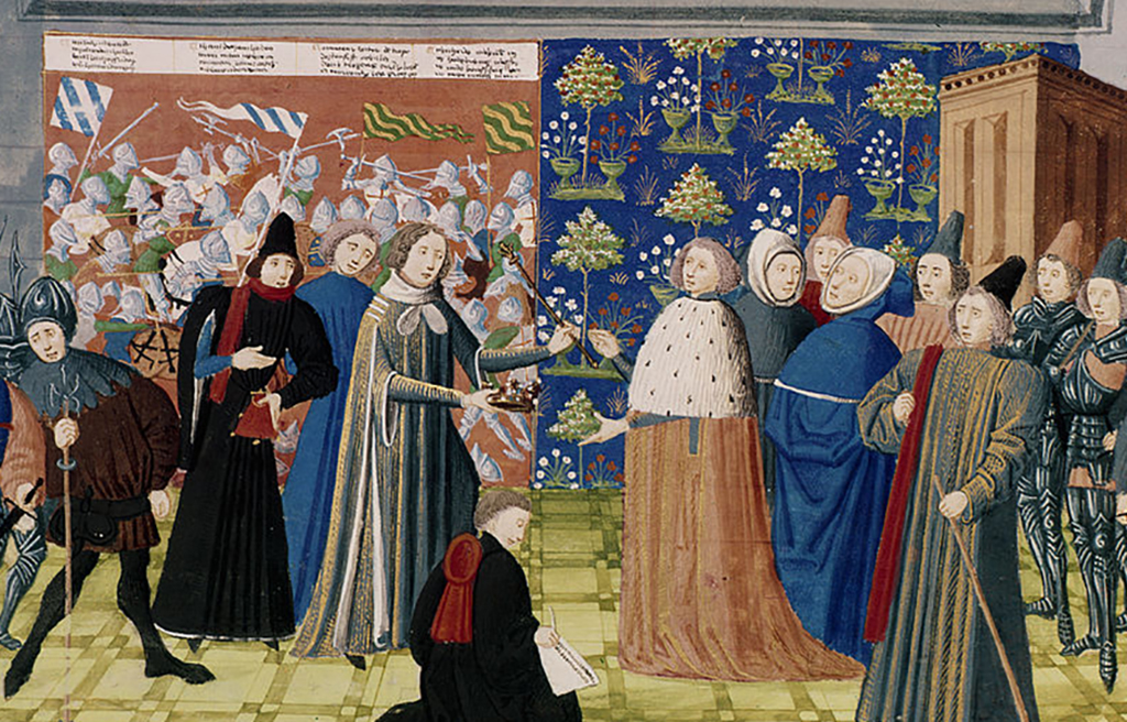 King Richard II surrendering the crown to Henry IV