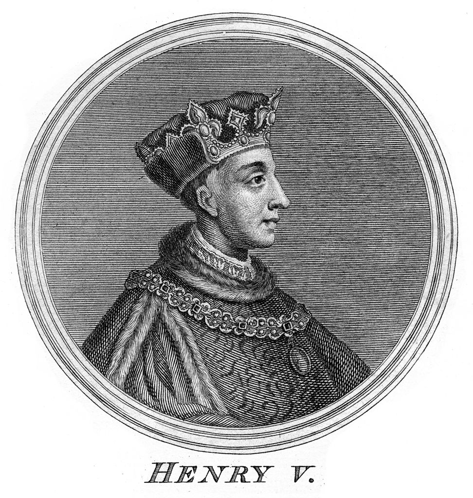 Henry V, King of England. The son of Henry IV,