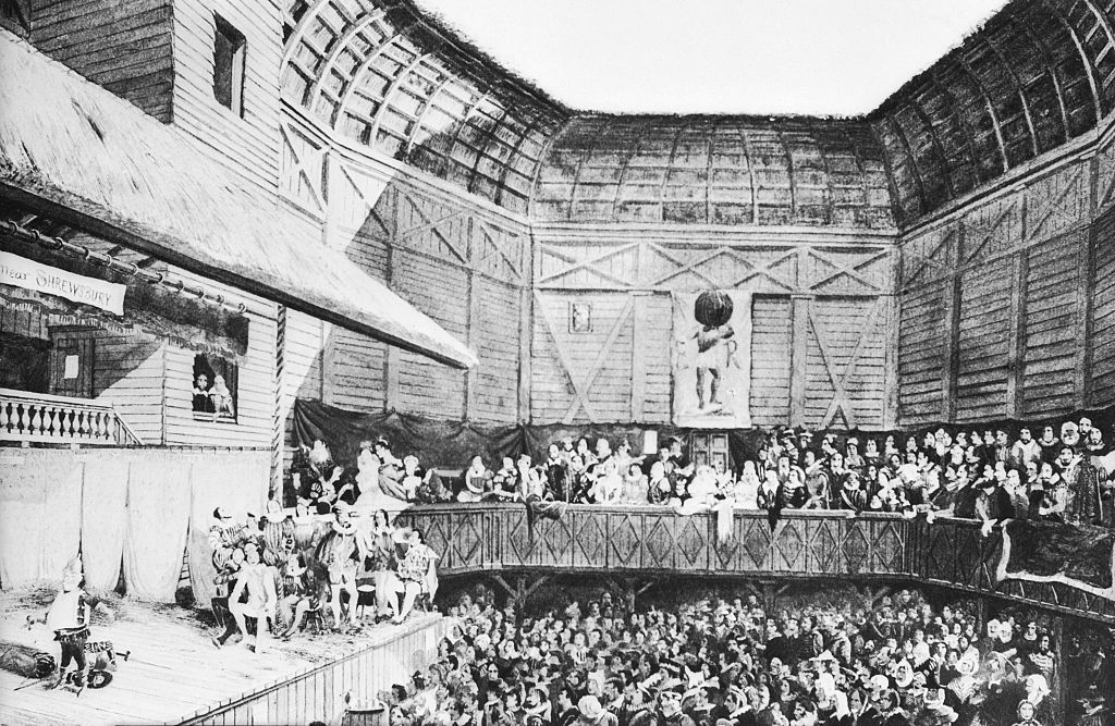 The Globe Theatre in the days of Shakespeare