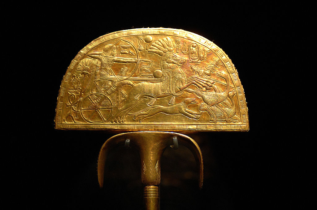 King Tut's fan