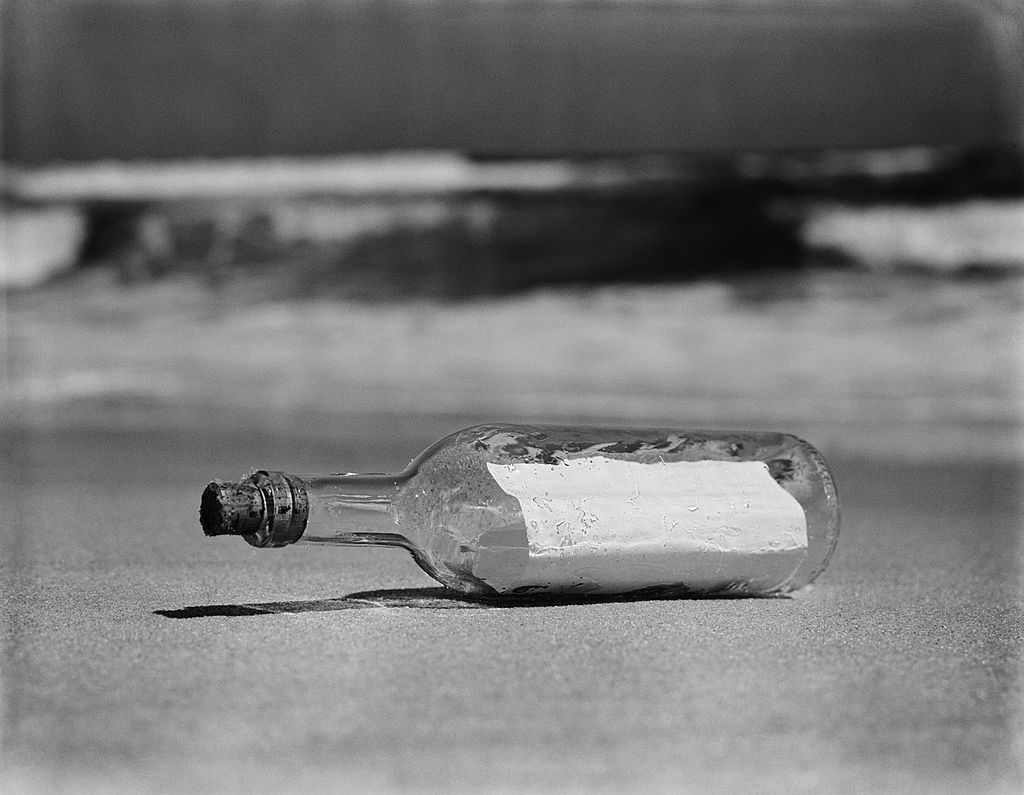 a message in a bottle washed ashore