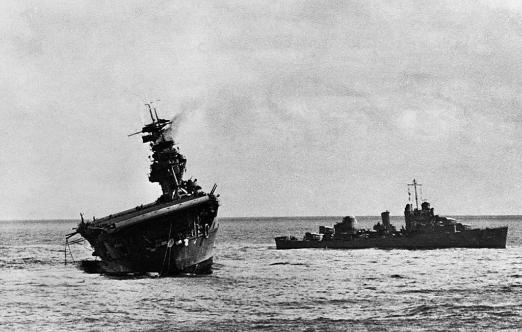 USS Yorktown destroyed