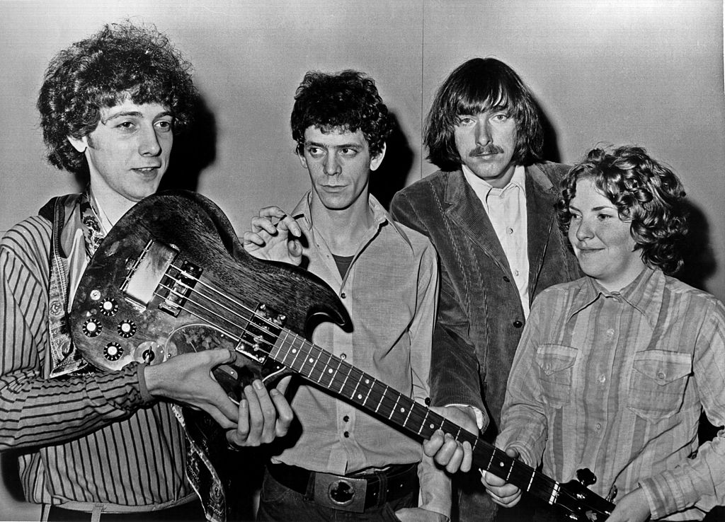 The band posing for a portrait in 1970