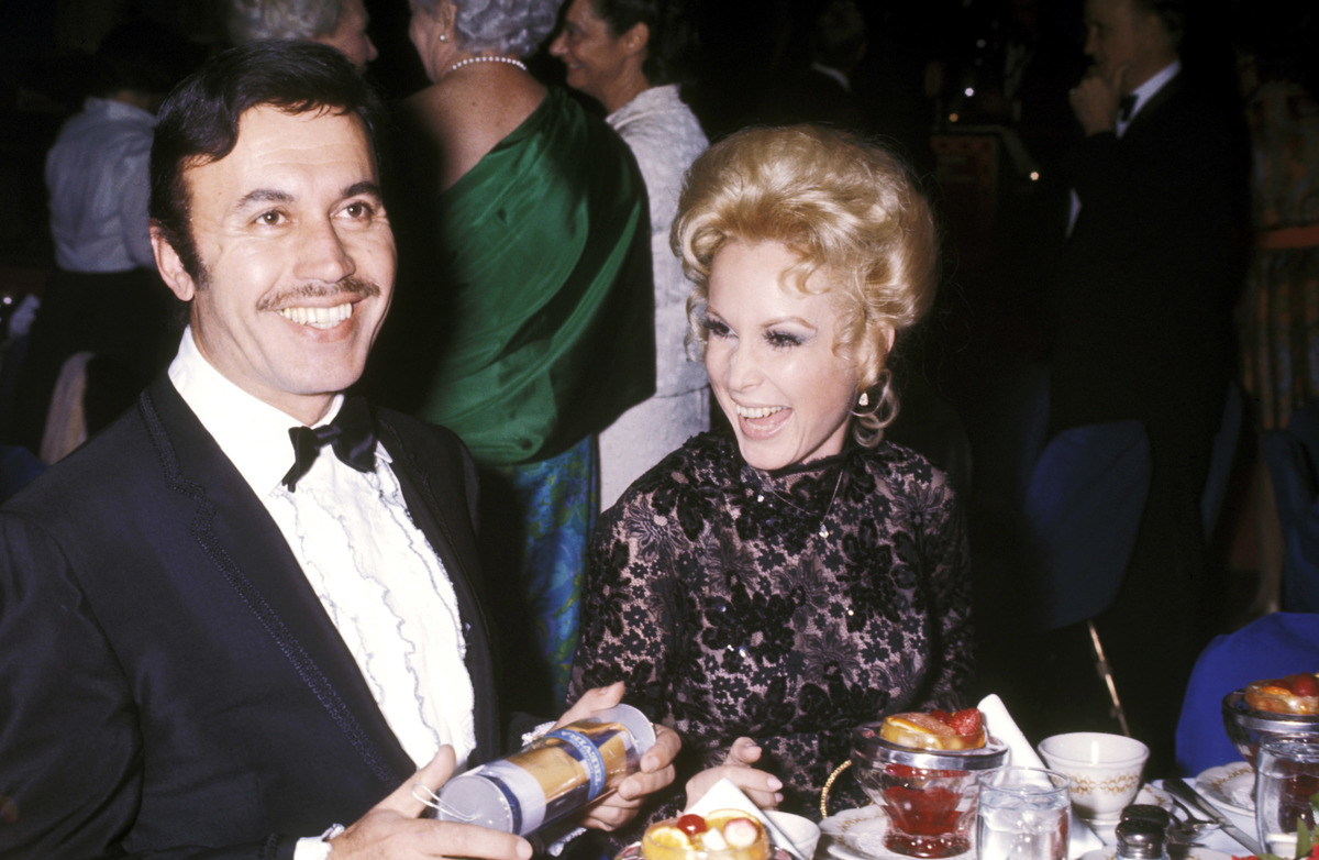 Actress Barbara Eden and husband Actor Michael Ansara attend the