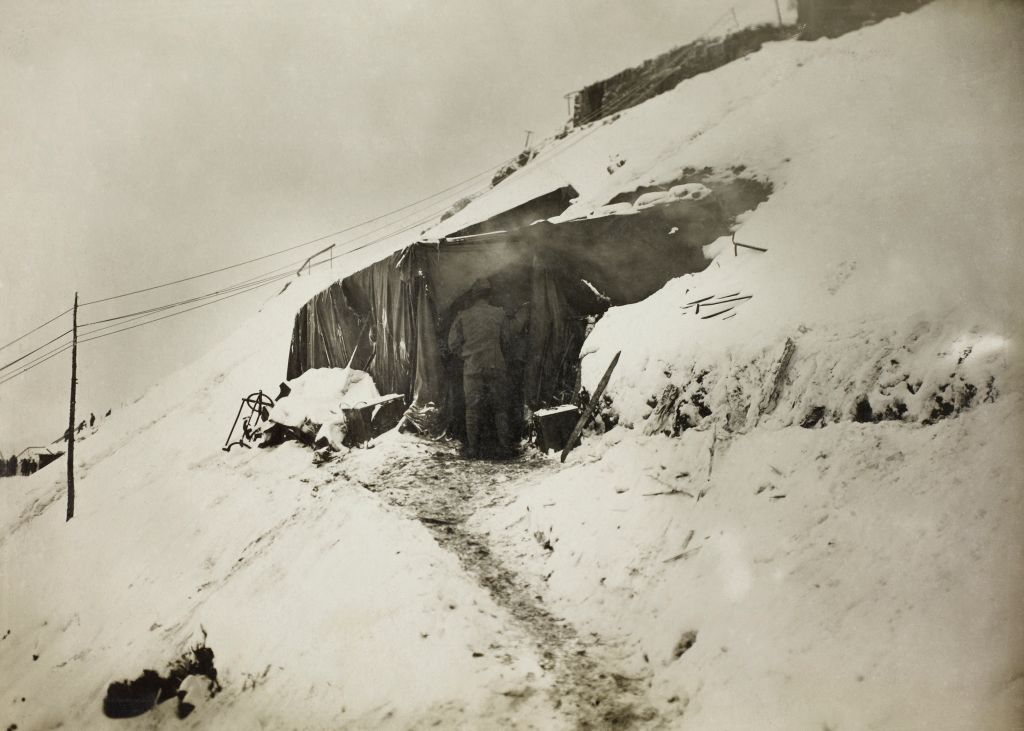trenches frozen during world war i