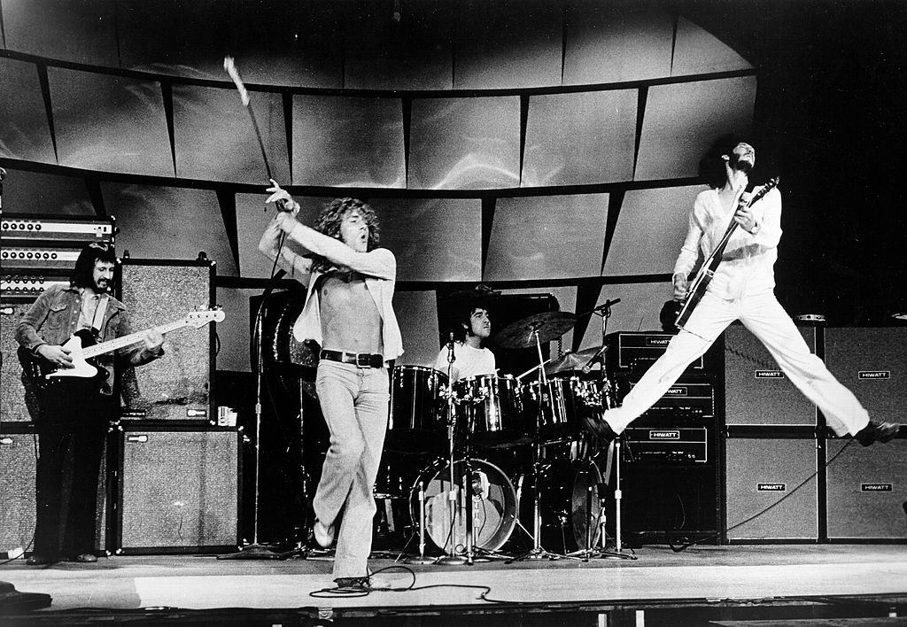 The Who performing on stage