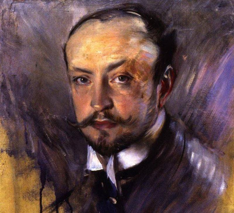 Giovanni Boldini is shown via his own self portrait.