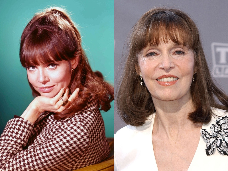 Barbara has brown hair, bangs, and a soft smile both in her youth and recently.