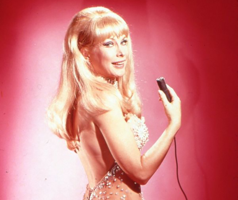Barbara Eden wears a jewel-laiden bodysuit.