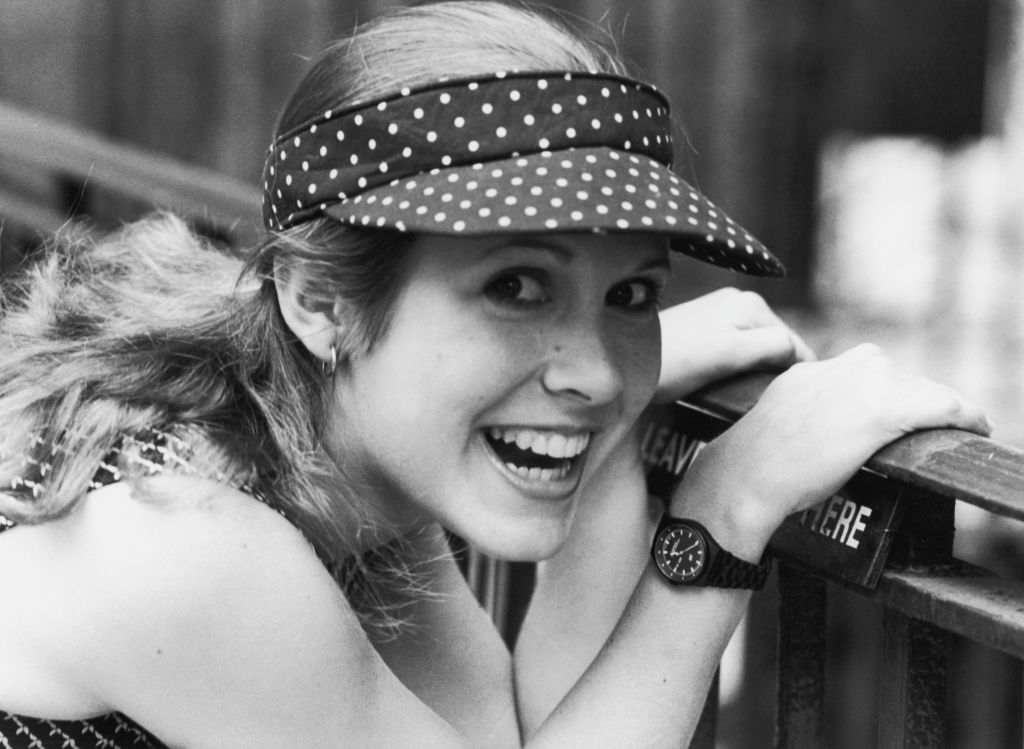American actress Carrie Fisher, 1980.