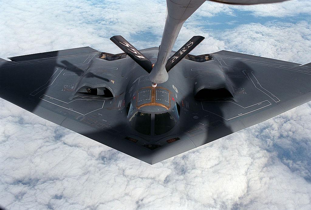 B-2 flying high