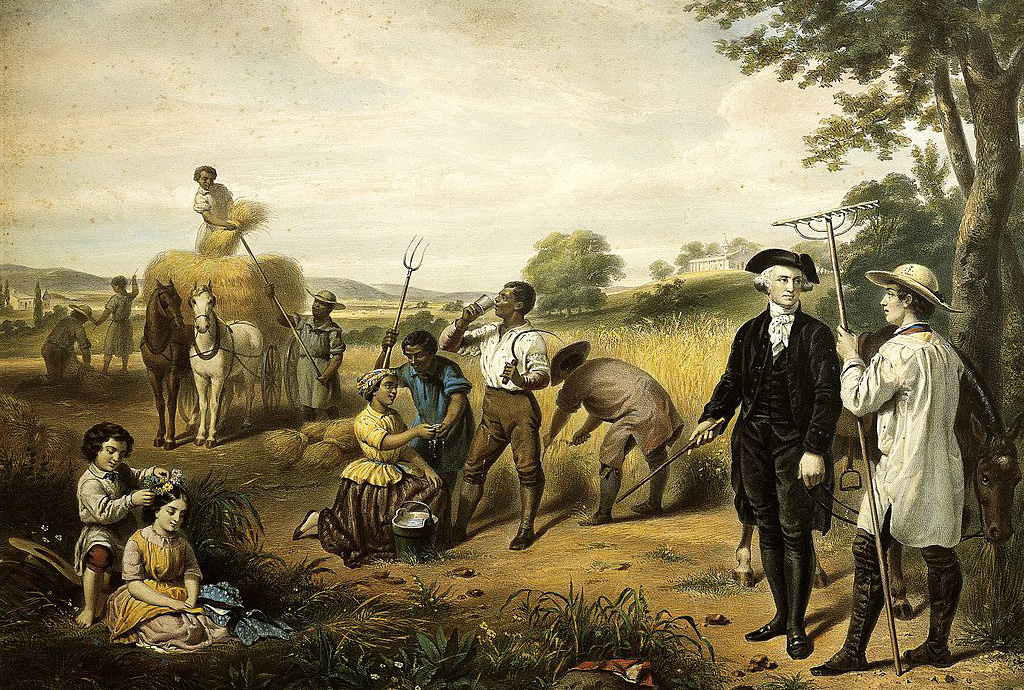 Painting of slaves in the fields