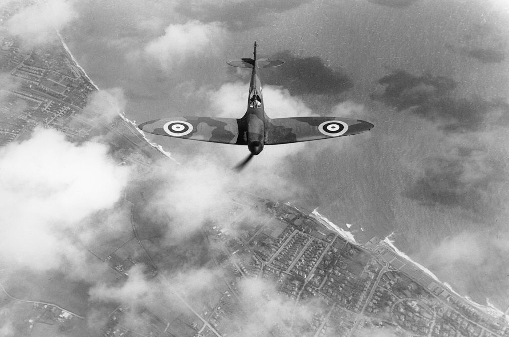 Spitfire flying in 1938