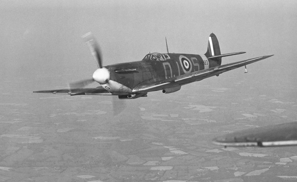 Spitfire of 92 Squadron