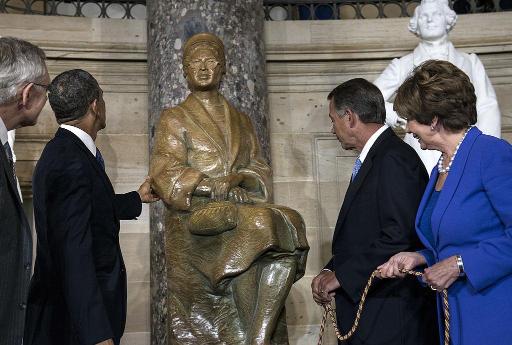 up close statue
