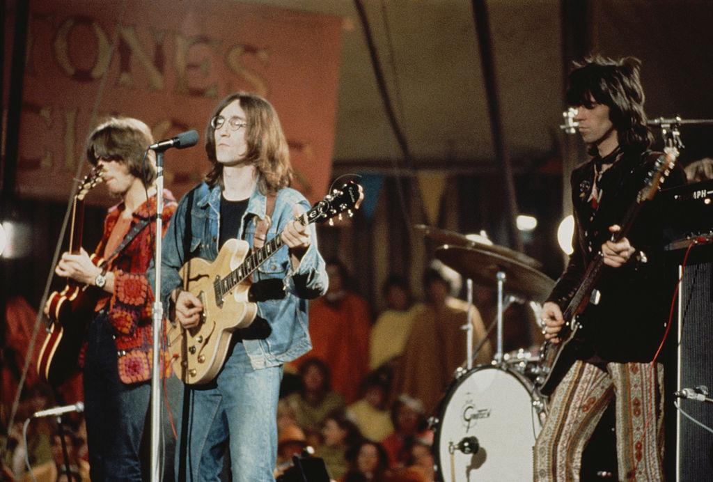 John Lennon, Keith Richards, and Eric Clapton