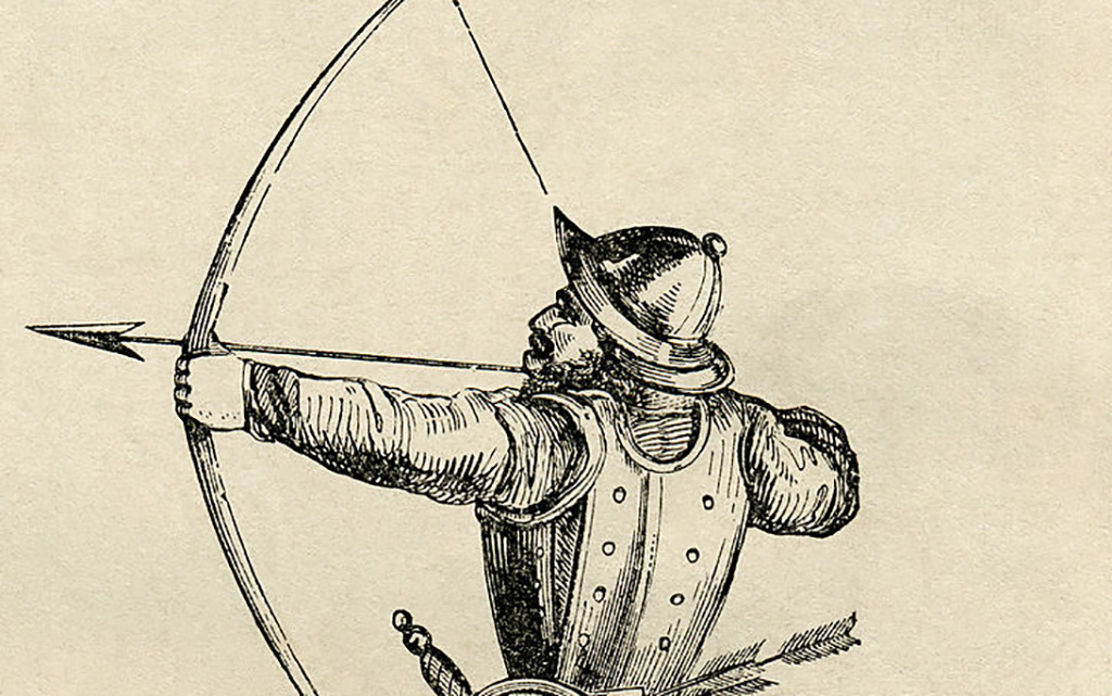 Shooting a longbow