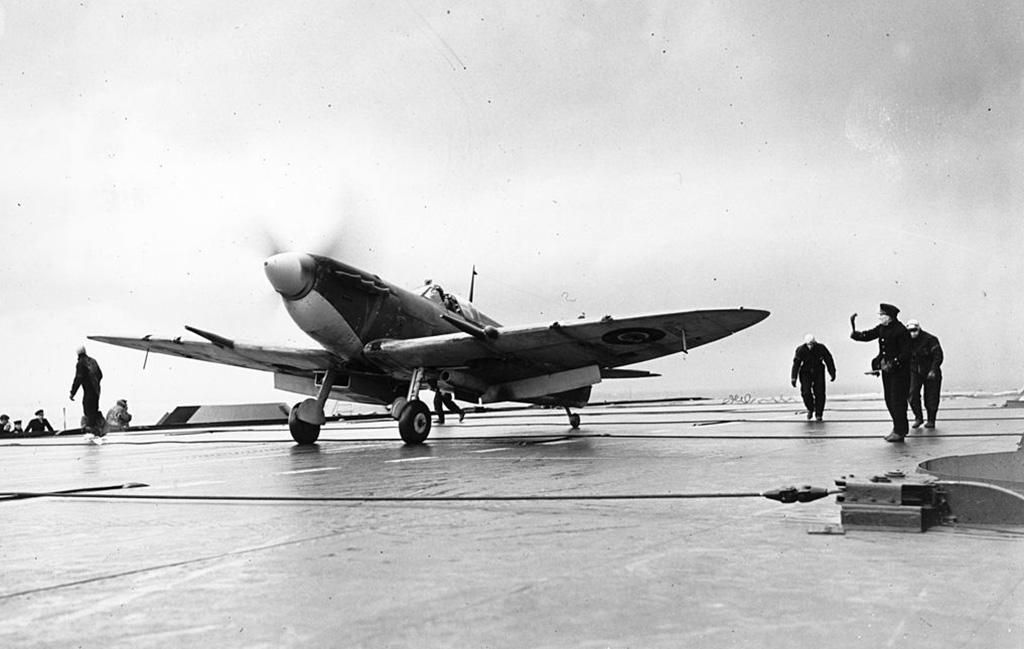 Seafire on carrier