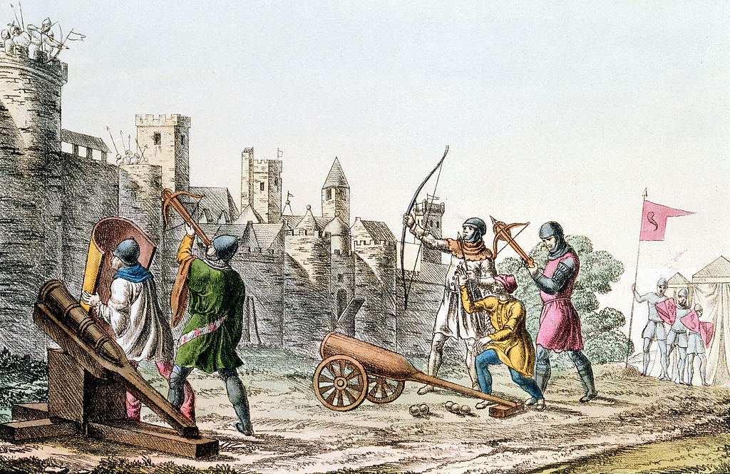 Siege of a castle with cannons