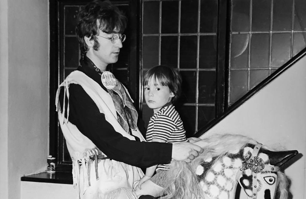 John Lennon and his son