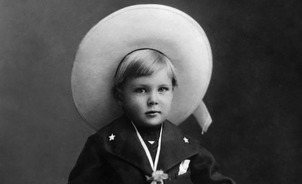 Cooper as a child