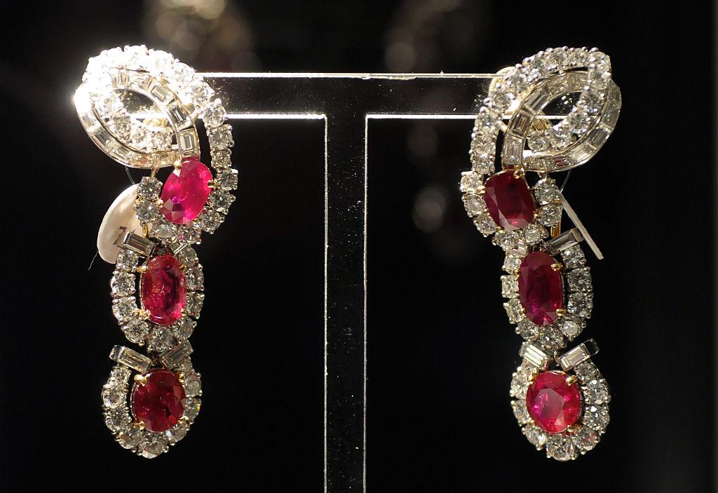 Ruby Cartier Earrings