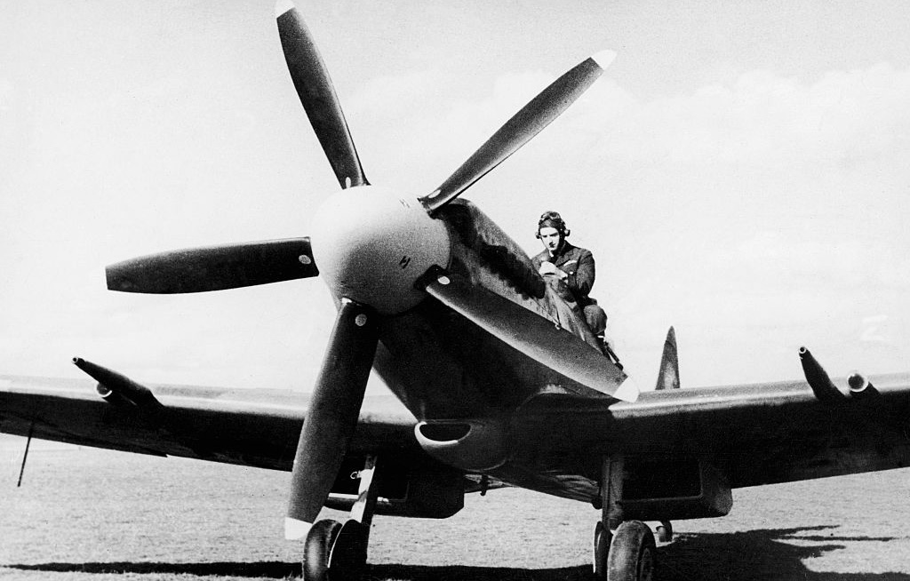 Spitfire with pilot