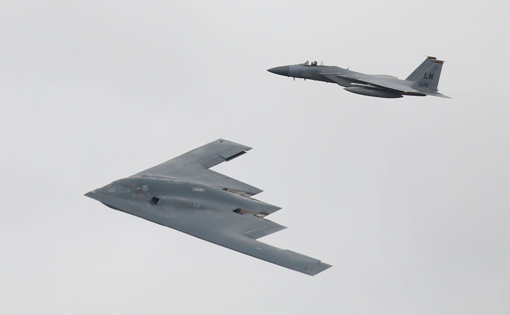 flying side by side.
