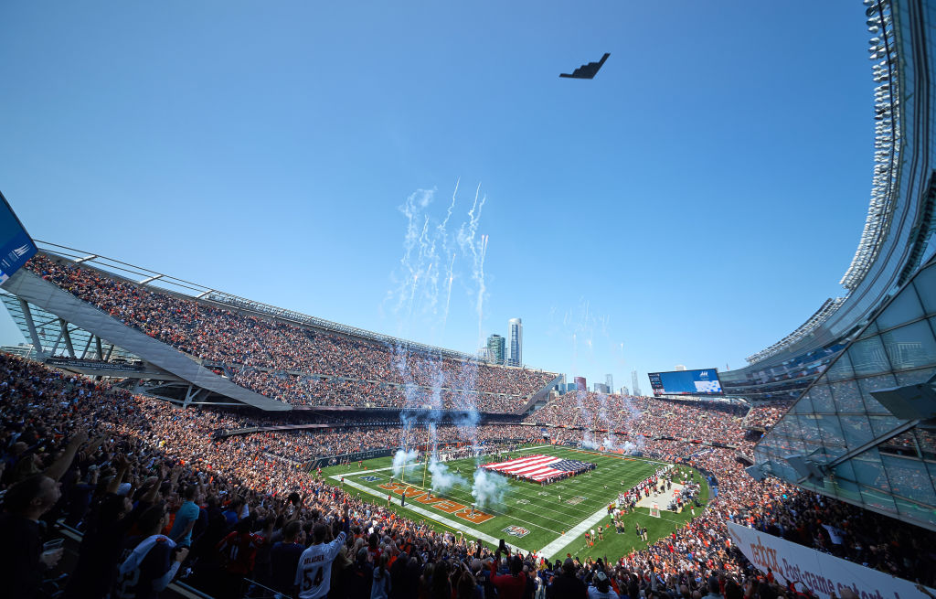 the B-2 at a game