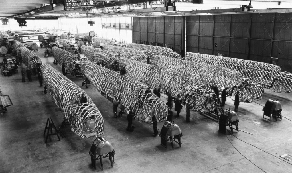 Spitfires in production
