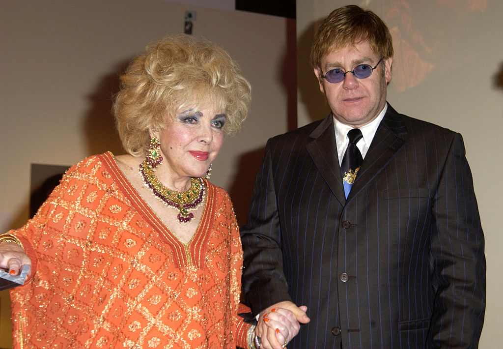Dame Elizabeth Taylor and Sir Elton John during InStyle Magazine Gala