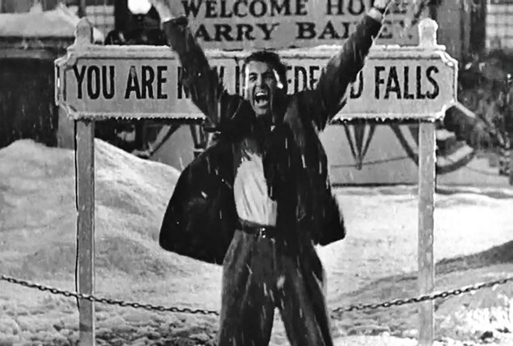 George happy to be back in Bedford Falls