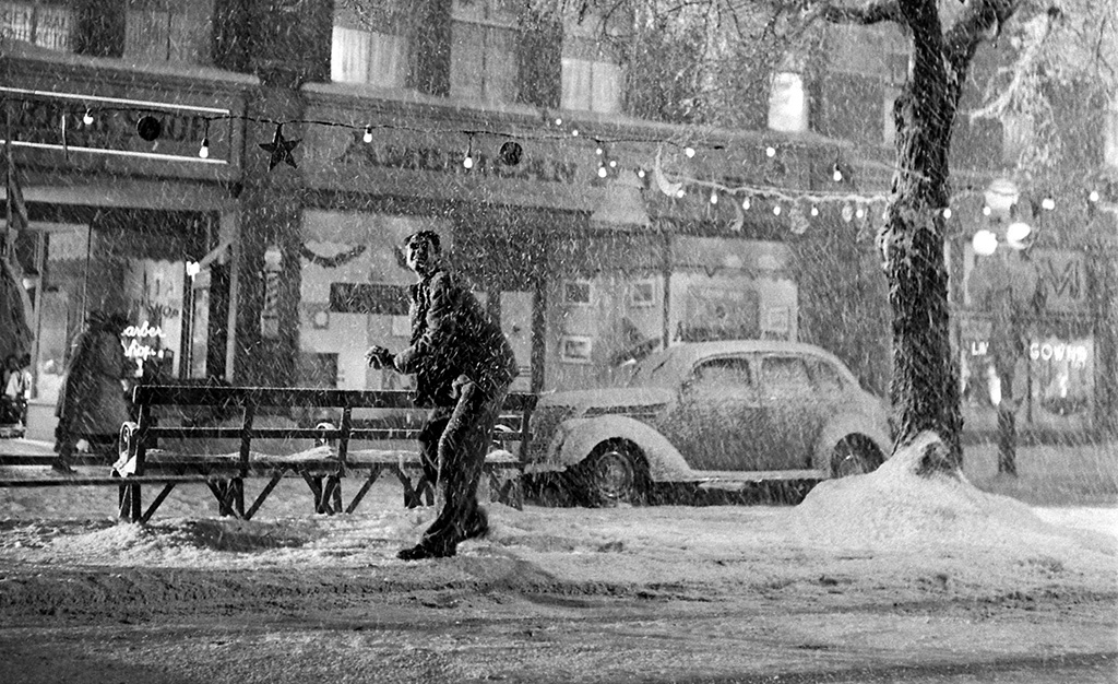 James Stewart in the snow