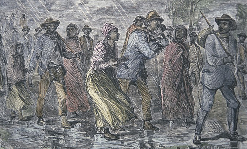 Painting of escaped slaves