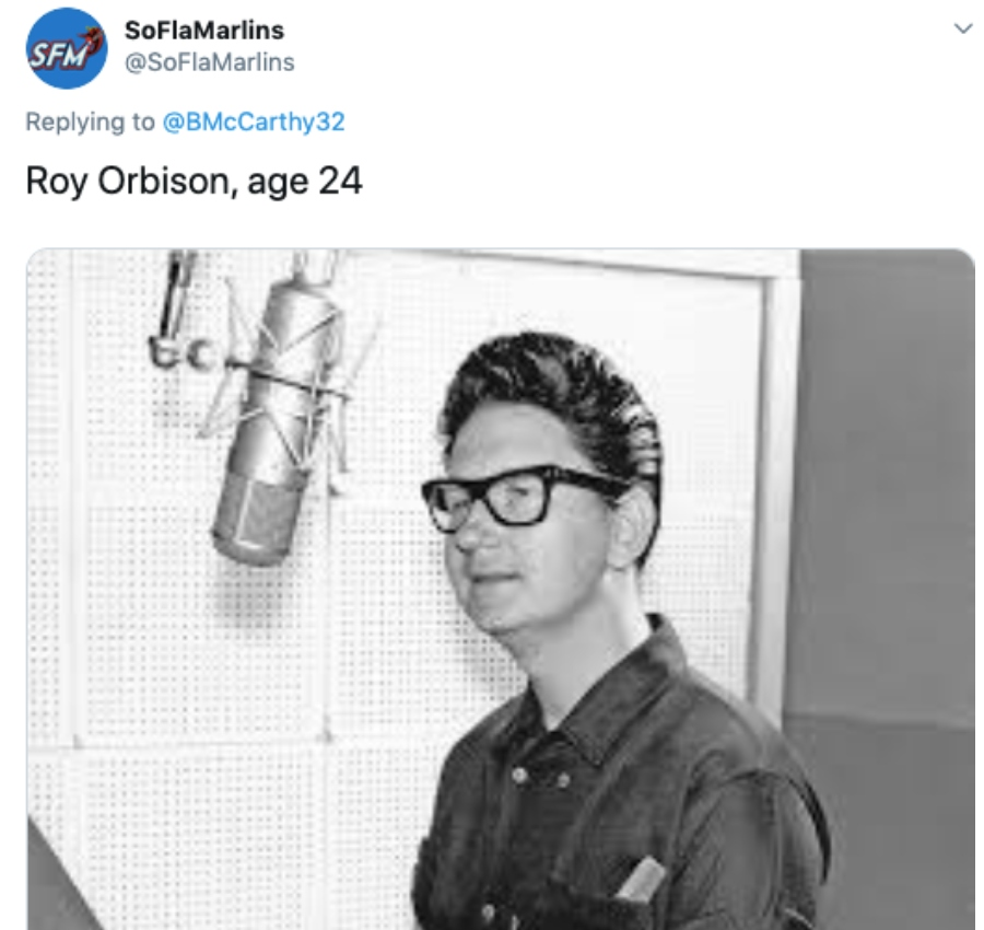 roy orbison at a recording booth