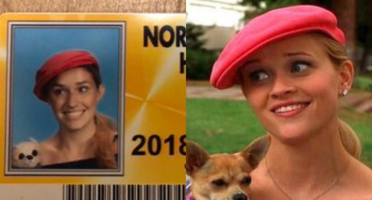 elle woods and dog