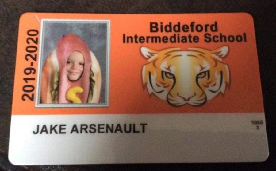 kid in hotdog costume