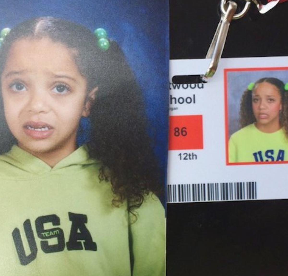 girl in school photos