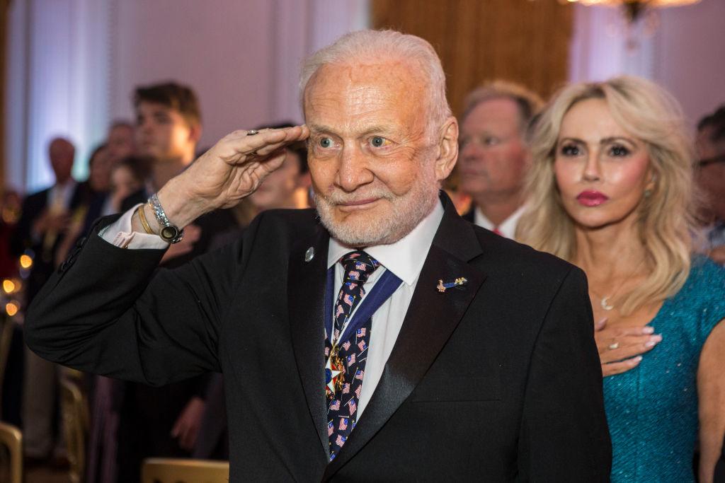 Aldrin Saluting