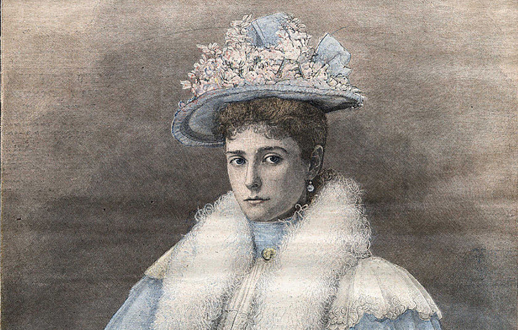 Portrait of Alexandra in a hat