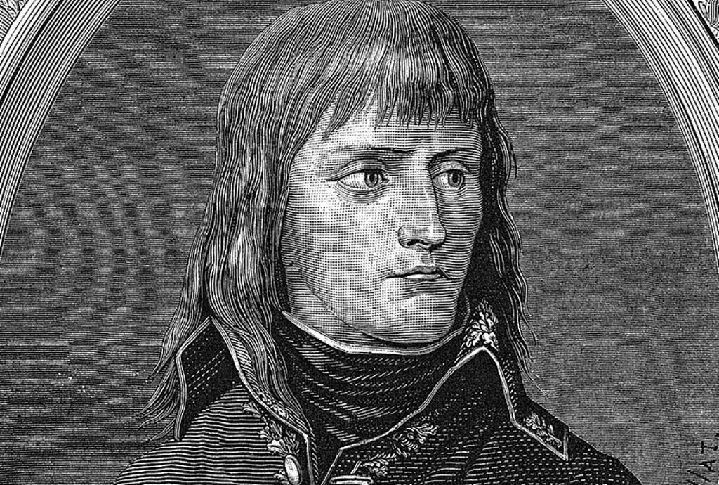 Portrait of young Napoleon
