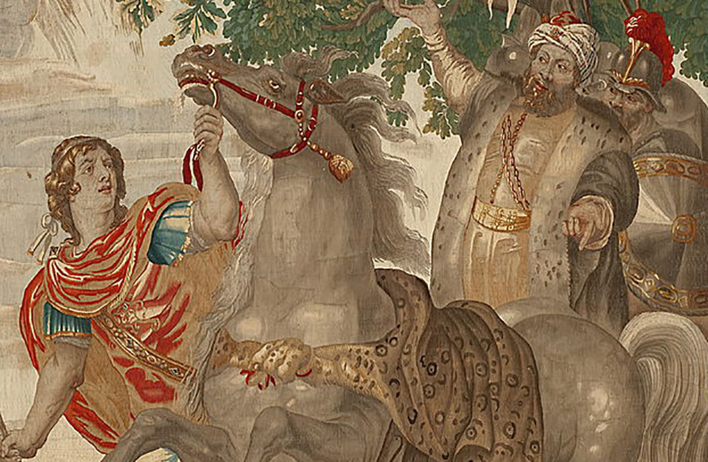 Alexander the Great and horse