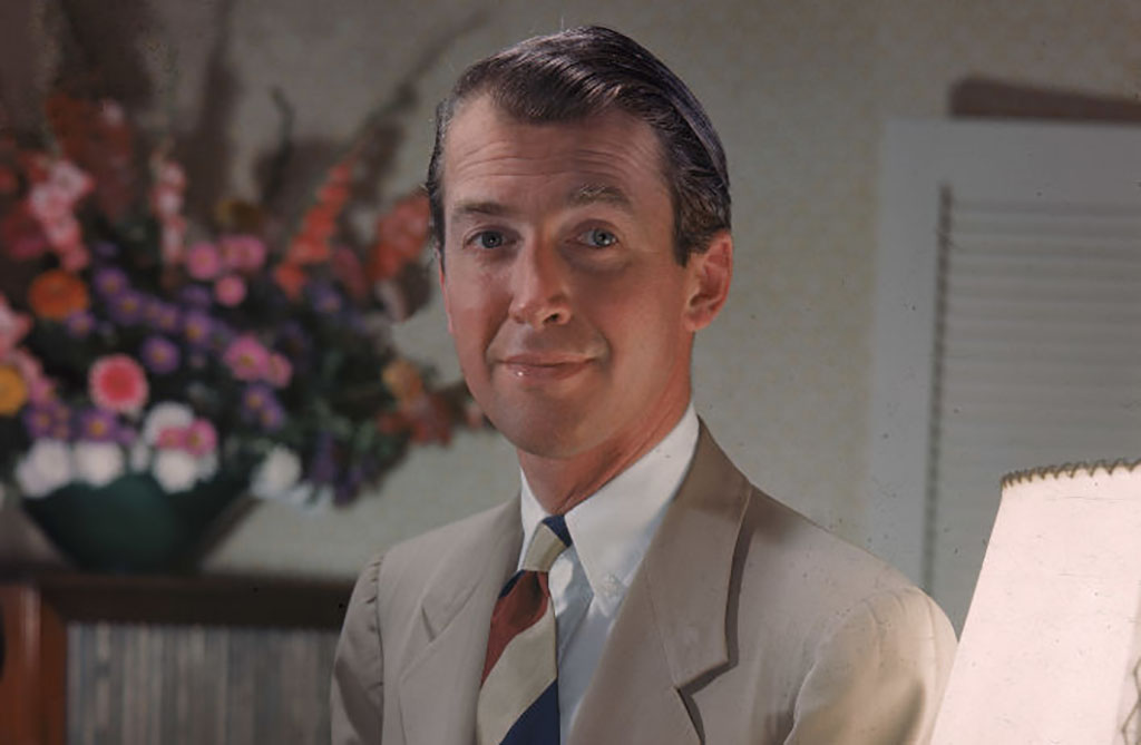 Jimmy Stewart in color