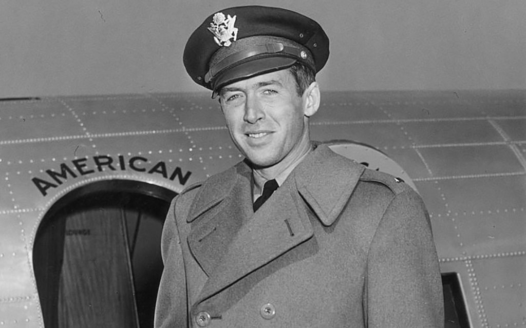 Stewart in Air Force attire
