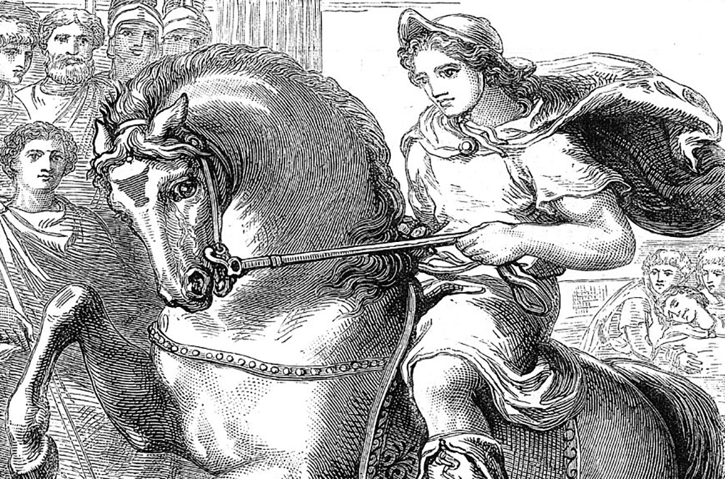 Alexander on his horse