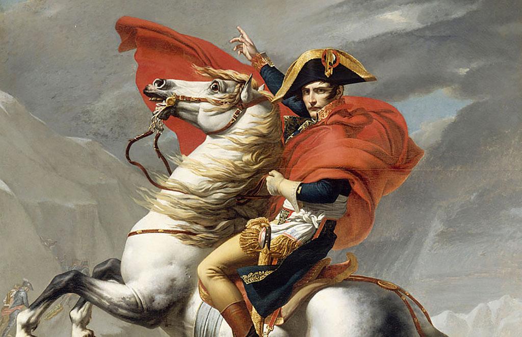 Napoleon on a horse