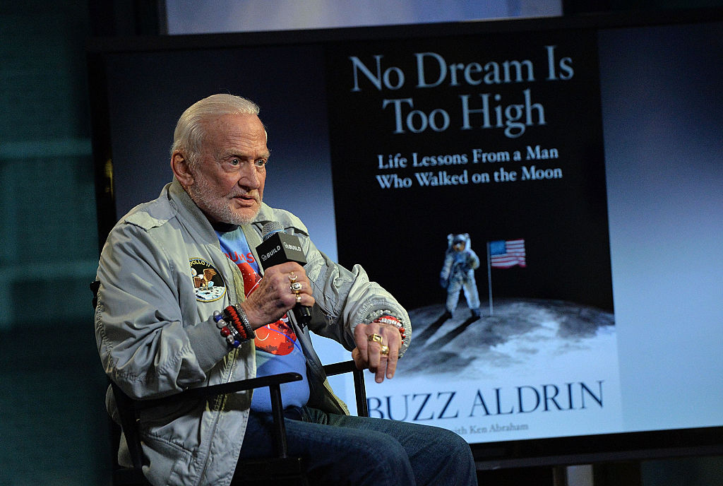 Aldrin talking about his new book