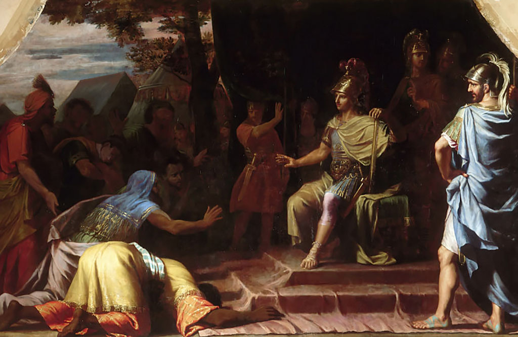 Painting of Alexander sitting down